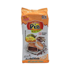 Ciasteczka PIA VEGE o smaku czerwonej fasoli oraz duriana 400g   BÁNH PÍA CHAY  ĐẬU ĐỎ - SẦU RIÊNG 400g x 30/krt ( 91202)