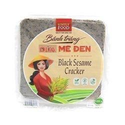 Cracer z kokosem i  z czarnym sezamem  SIMPLE FOOD 500g | Banh Trang Dua Me Den Loai Vuong 500g x 30opak/krt