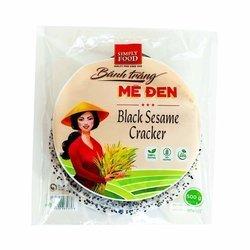 Cracker z czarnym sezamem 500g | Banh Da Me Den 500gx30szt